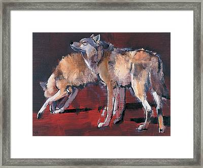 Loups Framed Print by Mark Adlington