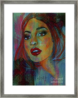 Framed Print featuring the painting Lourdes At Twilight by P J Lewis