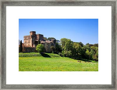 Lourmarin Castle Framed Print by Olivier Le Queinec