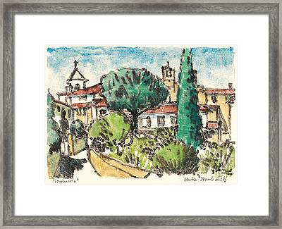 Framed Print featuring the painting Lourmarin Provence by Martin Stankewitz