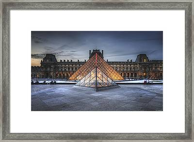 Louvre At Dusk Framed Print
