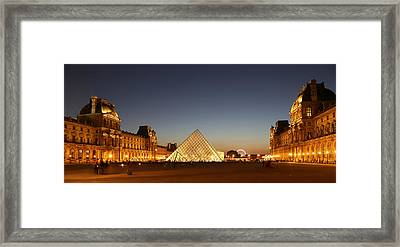 Framed Print featuring the photograph Louvre At Night 2 by Andrew Fare