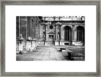 Louvre Courtyard Framed Print