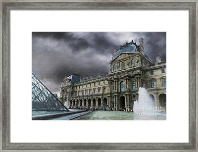 Framed Print featuring the mixed media Louvre by Jim  Hatch