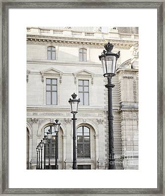 Louvre Lamp Posts Framed Print