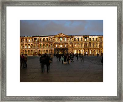 Framed Print featuring the photograph Louvre Palace, Cour Carree by Mark Czerniec