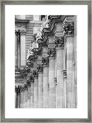 Louvre Pillars, Paris, 2015 Framed Print by Hitendra SINKAR