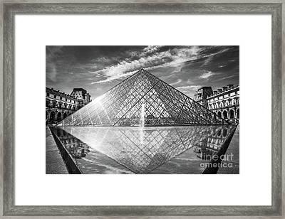 Louvre Pyramid, Paris Framed Print