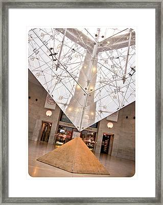 Framed Print featuring the photograph Louvre Pyramid by Silvia Bruno