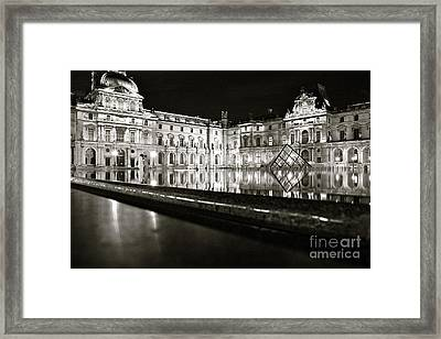 Framed Print featuring the photograph Louvre Reflections by Danica Radman