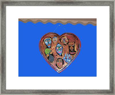 Lovable Funny Faces Framed Print by Betty  Roberts