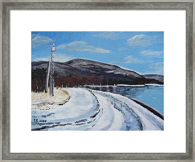 Lovat's Point Framed Print