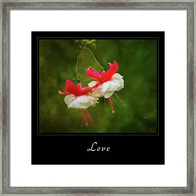 Framed Print featuring the photograph Love 1 by Mary Jo Allen