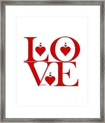 Extraordinary Valentine Love M36 Framed Print