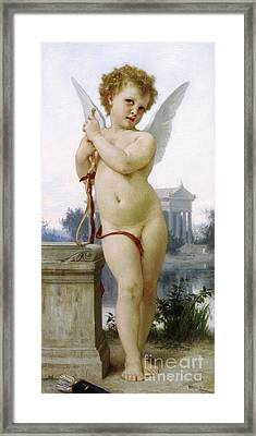 Love, 1891 Framed Print by William-Adolphe Bouguereau