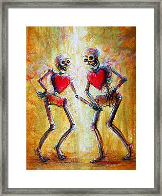 Framed Print featuring the painting Love 2 Love by Heather Calderon