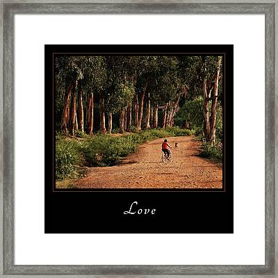 Framed Print featuring the photograph Love 3 by Mary Jo Allen
