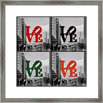 Love 4 All Framed Print