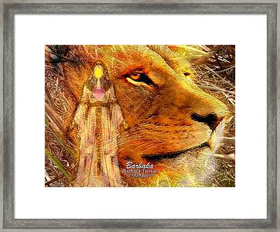 Framed Print featuring the digital art Love 444 Cecil by Barbara Tristan