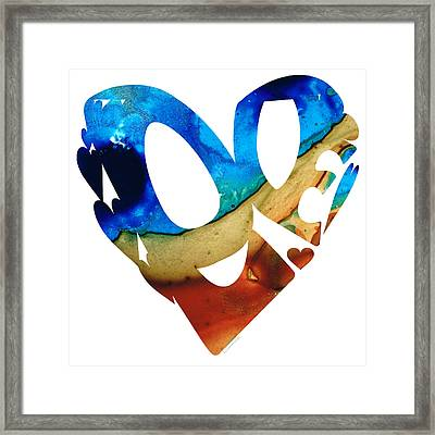 Love 6 - Heart Hearts Valentine's Day Framed Print by Sharon Cummings