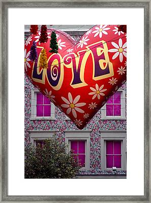 Love Above Framed Print by Jez C Self