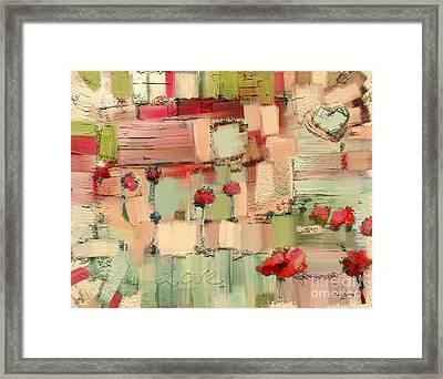 Love Abstract Framed Print