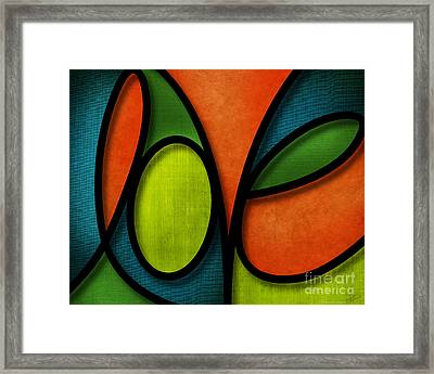 Love - Abstract Framed Print by Shevon Johnson