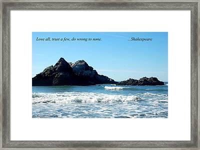 Love All.... Framed Print
