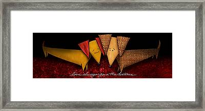 Love Always Goes The Distance Framed Print