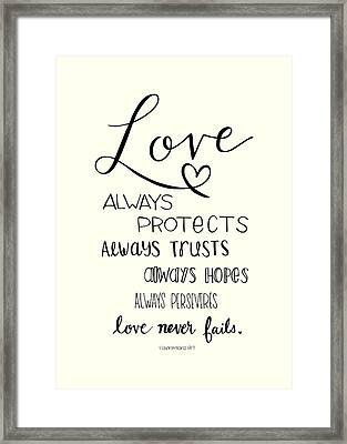 Love Always Framed Print