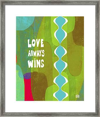 Framed Print featuring the painting Love Always Wins by Lisa Weedn