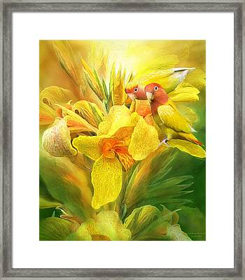 Framed Print featuring the mixed media Love Among The Orchids by Carol Cavalaris