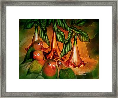 Love Among The Trumpets Framed Print by Carol Cavalaris