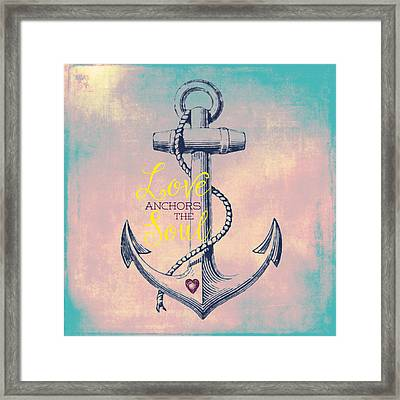 Love Anchors The Soul 2 Framed Print by Brandi Fitzgerald