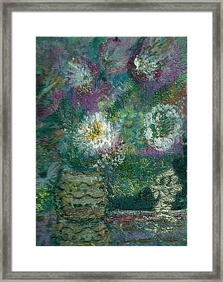 Love And A Daisy  Framed Print by Anne-Elizabeth Whiteway