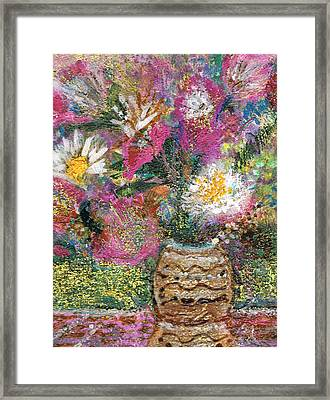 Love And A Daisy On The Side Framed Print by Anne-Elizabeth Whiteway