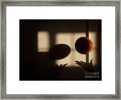 Love And Basketball Framed Print
