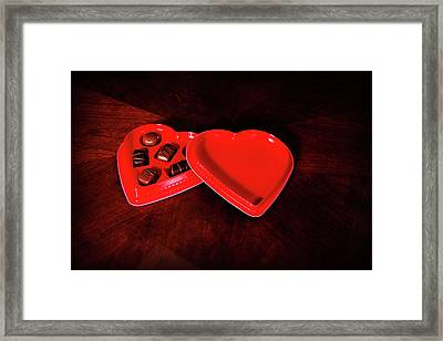 Love And Chocolate Framed Print