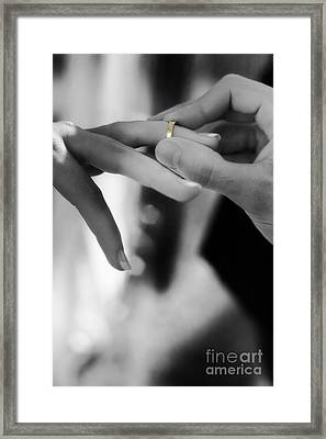 Love And Commitment Framed Print