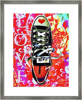 Love And Converse Framed Print