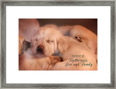 Love And Family Framed Print by Lori Deiter