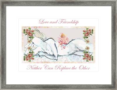 Framed Print featuring the mixed media Love And Friendship - Valentine Card by Carolyn Weltman