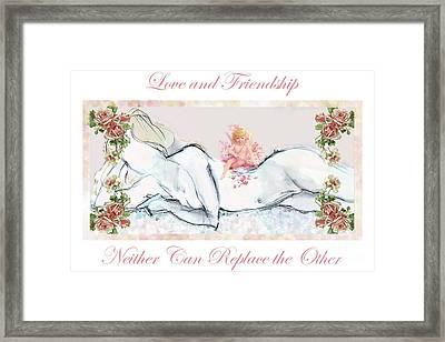 Love And Friendship - Valentine Card Framed Print