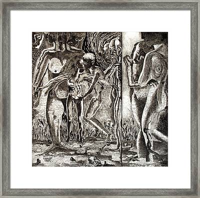 Love And Hatred Framed Print
