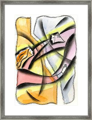 Love And Liberty Framed Print by Leon Zernitsky