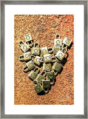 Love And Locks Framed Print