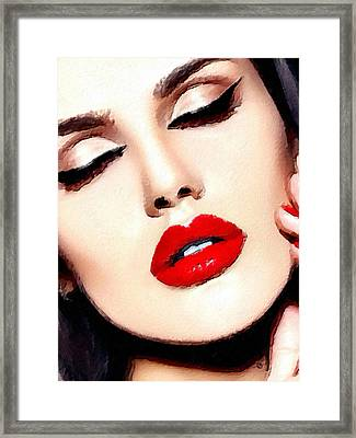 Love And Passion Portrait Of A Woman Crop Framed Print by Tony Rubino