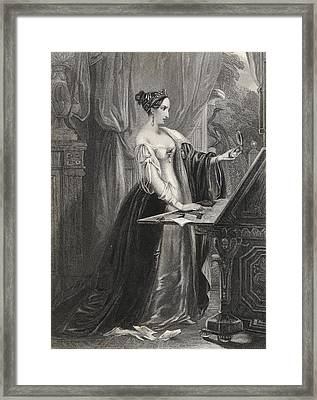Love And Pride Engraved By H. Cook Framed Print by Vintage Design Pics