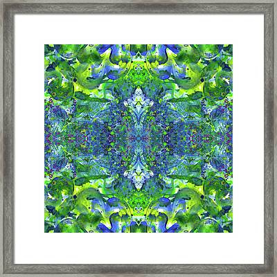 Love And Protect Our Living Gaia #1517 Framed Print by Rainbow Artist Orlando L aka Kevin Orlando Lau