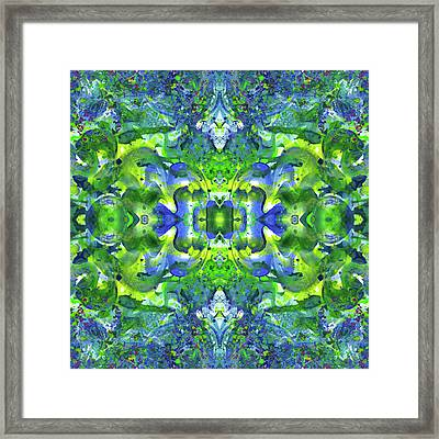 Love And Protect Our Living Gaia #1518 Framed Print by Rainbow Artist Orlando L aka Kevin Orlando Lau